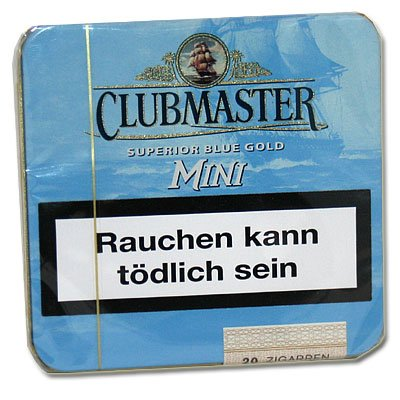 Clubmaster Zigarillos Blue Gold Mini ohne Filter