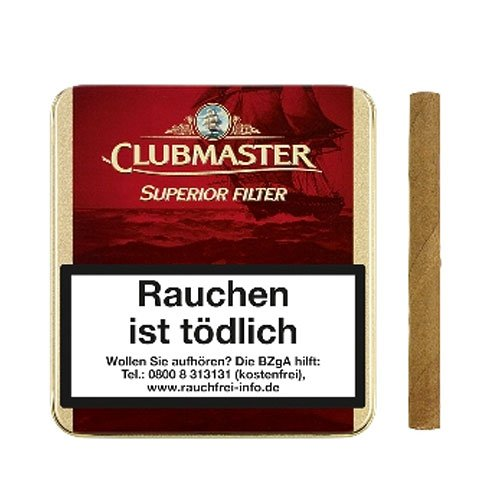 Clubmaster Zigarillos Superior Red Filter