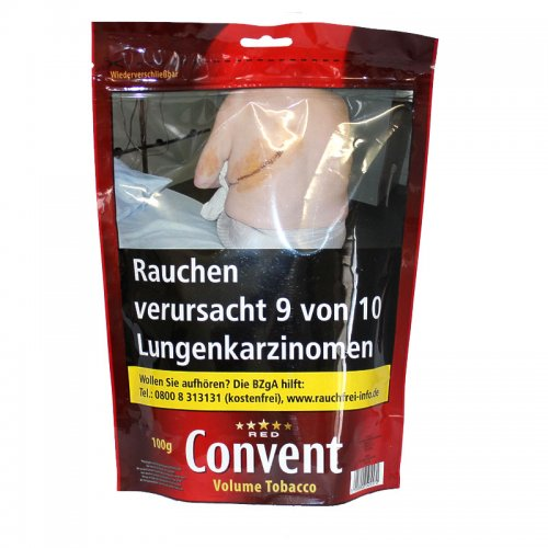 Convent Red Volumen Tabak 100g Zip-Beutel