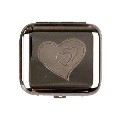 Cool Taschenaschenbecher eckig chrom poliert Herz