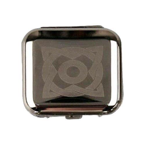Cool Taschenaschenbecher eckig chrom poliert Oval mit Ecken
