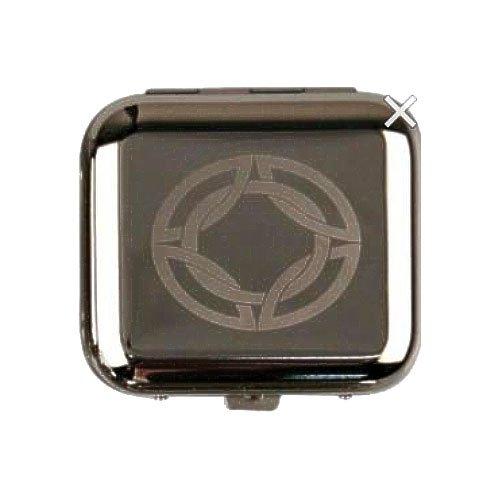 Cool Taschenaschenbecher eckig chrom poliert Oval