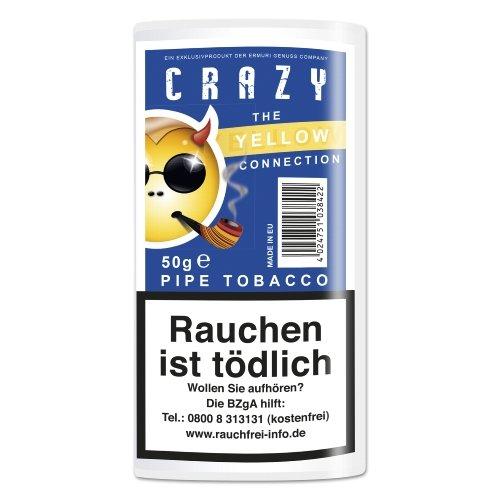 Crazy Pfeifentabak Yellow (ehem. Vanilla) 50g Päckchen