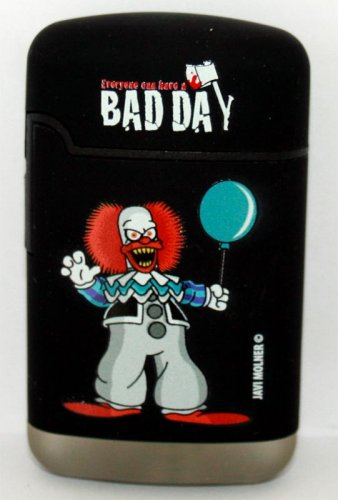 Crusty der Clown Easy Torch 8 Jet Feuerzeug Bad Day