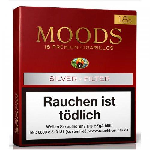 Dannemann Moods Zigarillos Silver Filter 18 Stück