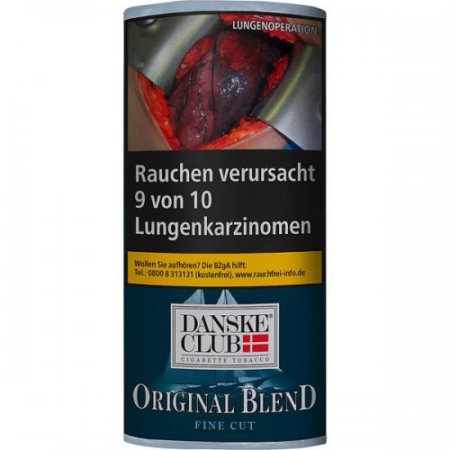 Danske Club Tabak Fine Cut Blau 40g Päckchen Zigarettentabak