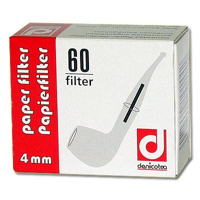 Denicotea Pfeifenfilter 4mm Zubehör für die Pfeife