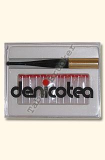 Denicotea Zigarettenspitze 20202 Schwarz-Gold