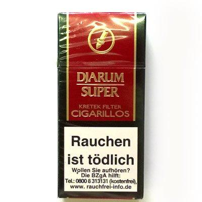 Djarum Super Filterzigarillos Kretek  (Artikel wird nicht mehr hergestellt)