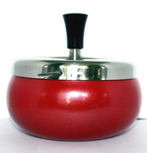 Dreh-Ascher Chrom Rot-Metallic 11 cm