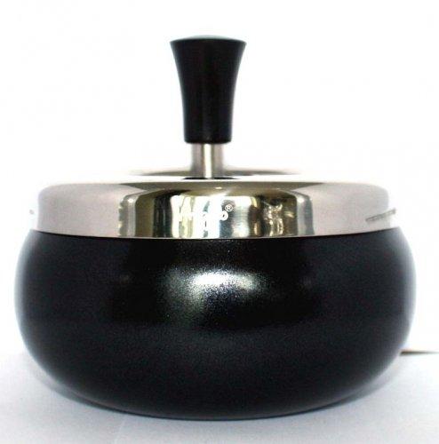 Dreh-Ascher Chrom Schwarz-Metallic 11 cm