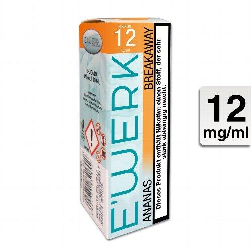 E-Liquid E WERK Breakaway Ananas 12mg Nikotin