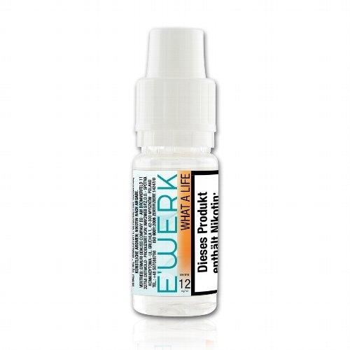 E-Liquid E WERK What a Life Erdbeere 12 mg Nikotin