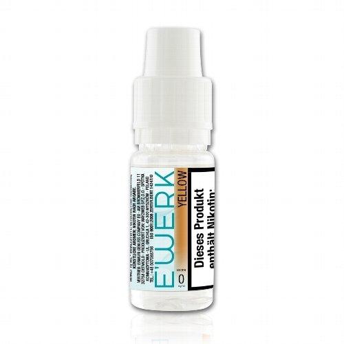 E-Liquid E WERK Yellow Tobacco Virginia 0mg Nikotin