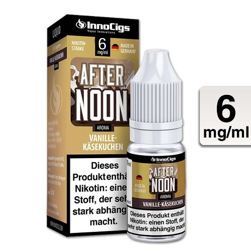 E-Liquid InnoCigs Afternoon Vanille-Käsekuchen 6mg Nikotin