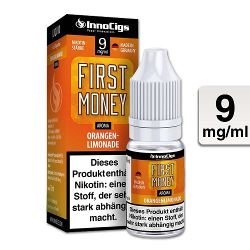 E-Liquid InnoCigs First Money Orangenlimonade 9 mg Nikotin
