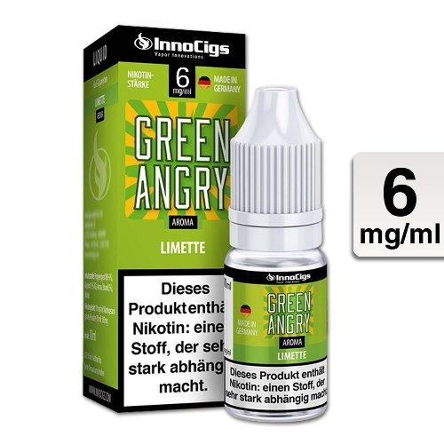 E-Liquid InnoCigs Green Angry Limetten 6 mg Nikotin