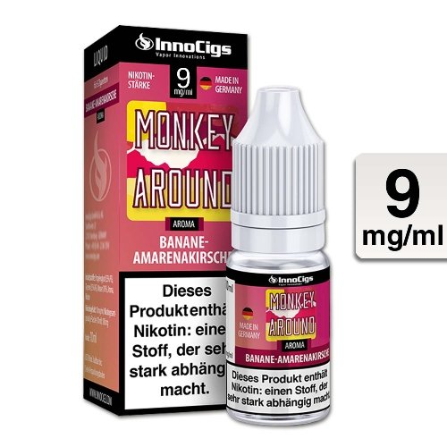 E-Liquid InnoCigs Monkey Around Banane-Amarenakirsche 9 mg Nikotin