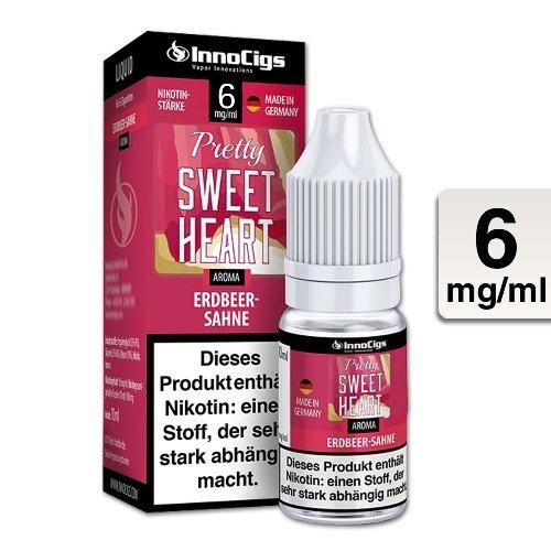 E-Liquid InnoCigs Pretty Sweetheart Sahne-Erdbeer 6 mg Nikotin