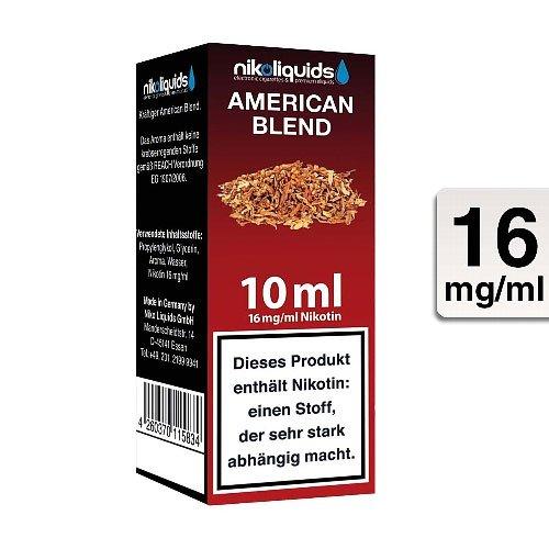 E-Liquid NIKOLIQUIDS American Blend 16 mg Nikotin