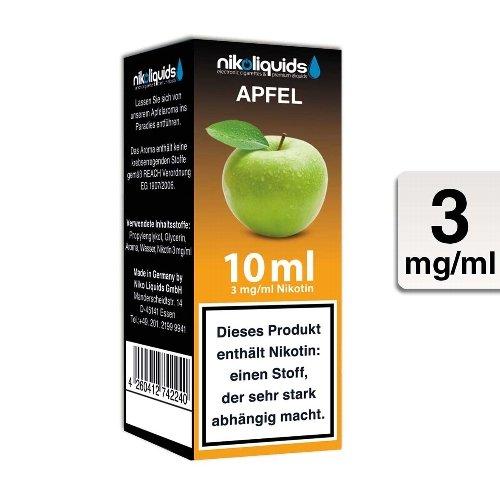 E-Liquid NIKOLIQUIDS Apfel 3 mg Nikotin 50 / 50