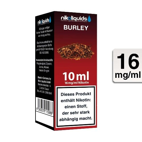 E-Liquid NIKOLIQUIDS Burley Tabak 16 mg Nikotin