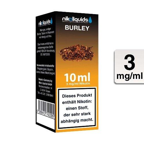 E-Liquid NIKOLIQUIDS Burley Tabak 3 mg Nikotin