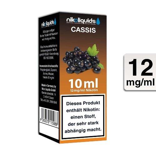 E-Liquid NIKOLIQUIDS Cassis 12 mg Nikotin