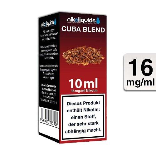 E-Liquid NIKOLIQUIDS Cuba Blend 16 mg Nikotin