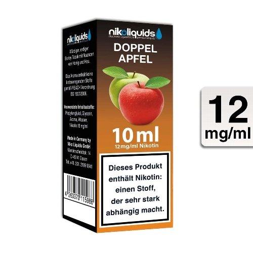 E-Liquid NIKOLIQUIDS Doppel Apfel 12 mg