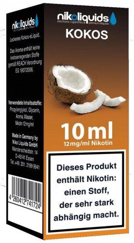 E-Liquid NIKOLIQUIDS Kokos 12 mg Nikotin