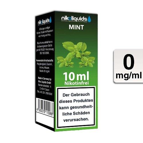 E-Liquid NIKOLIQUIDS Mint 0mg ohne Nikotin