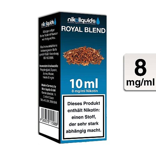 E-Liquid NIKOLIQUIDS Royal Blend 8 mg Nikotin
