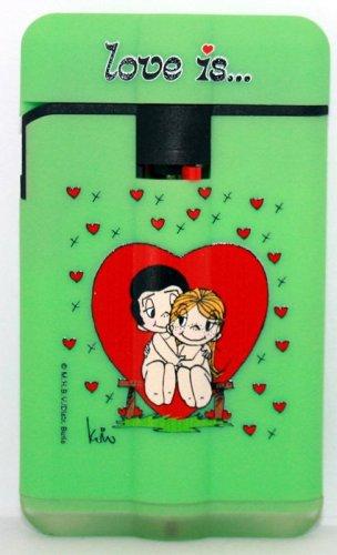 Easy Torch 8 Jet Feuerzeug Liebe ist ...  grün