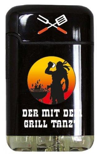 Easy Torch 8 Jet Feuerzeug Relief Born to Grill Der mit dem Grill Tanzt