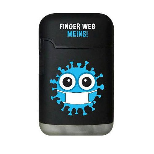 Easy Torch Finger Weg Meins! blau Feuerzeug