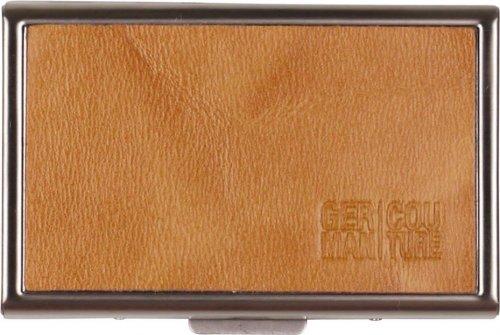 Edelstahl-Etui Echt Leder cognac für 20 IQOS Heets