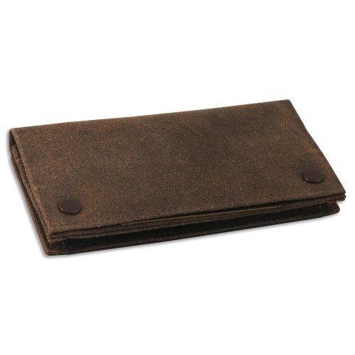 Feinschnitt-Tasche Leder antik 17 x 8,5 cm