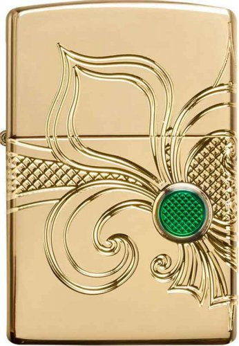 Zippo Feuerzeug Fleur de Lis Gold plated