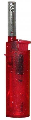 Zorro Mini Feuerzeug BBQ transparent Rot