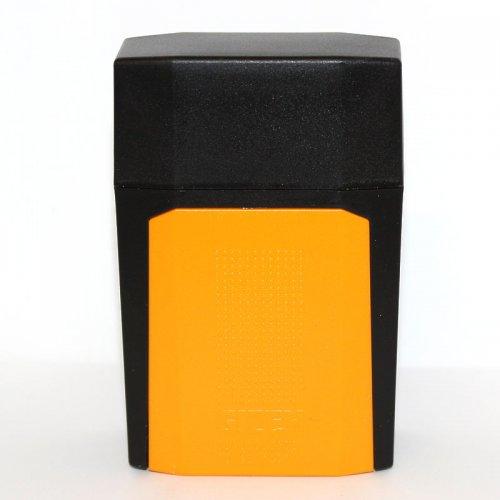 Gizeh Flip Case Zigarettenbox Schwarz Orange