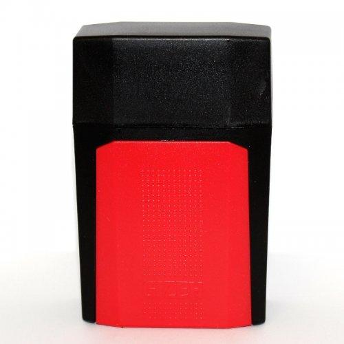 Gizeh Flip Case Zigarettenbox Schwarz Rot