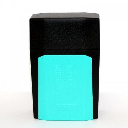 Gizeh Flip Case Zigarettenbox Schwarz Türkis