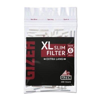 Gizeh XL Slim Filter Black Zigarettenfilter 6mm 100 Stück