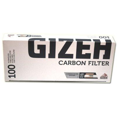 Gizeh Zigarettenhülsen Carbon Silver Tip 100 Stück