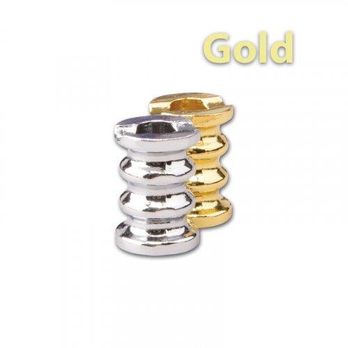 Gluttöter Gold mit Wellen für Zigaretten Aschenbecher
