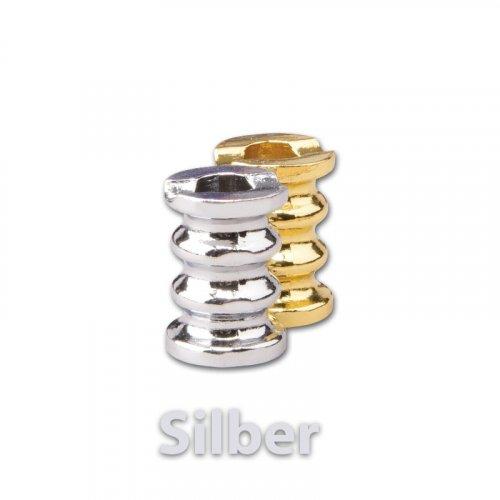 Gluttöter Silber mit Wellen für Zigaretten Aschenbecher