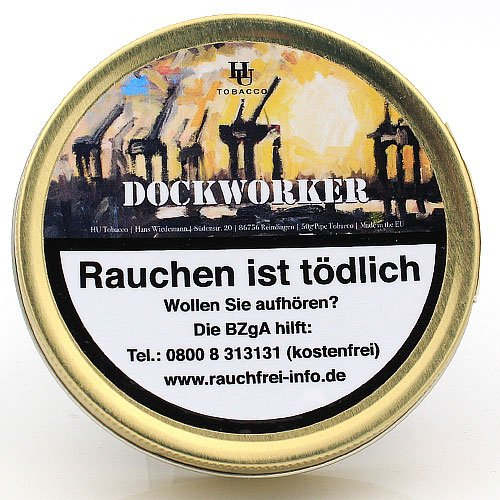 HU Tobacco Dockworker Pfeifentabak 50g Dose