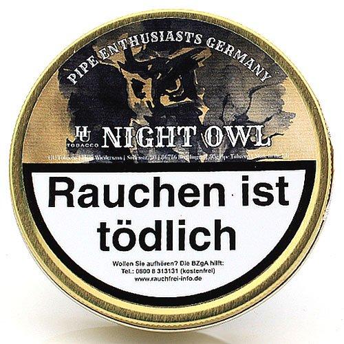 HU Tobacco Night Owl Pfeifentabak 50g Dose