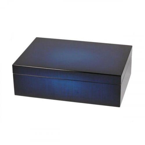 Humidor Blau mit Farbverlauf für ca 50 Zigarrren